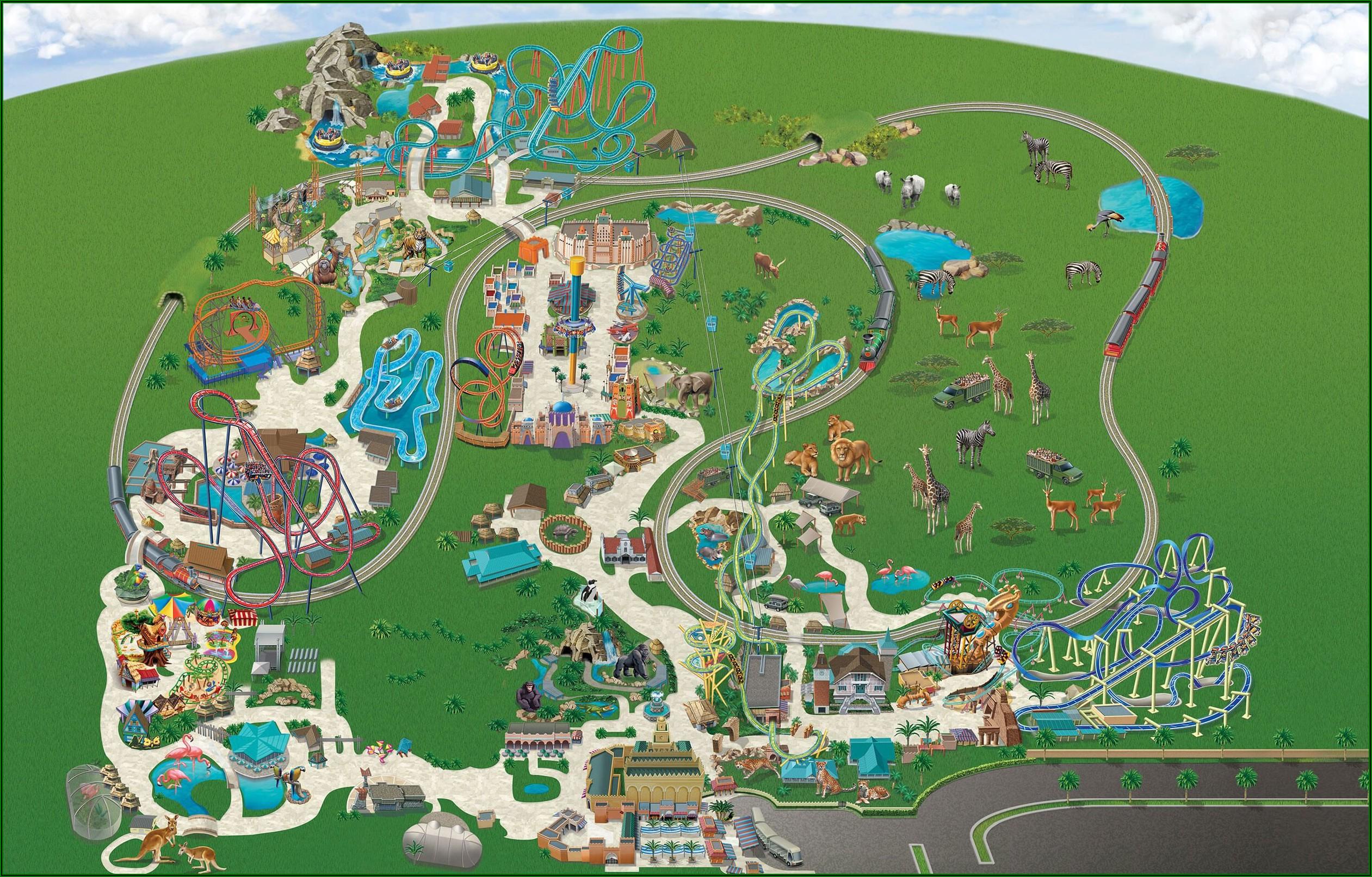 Busch Gardens Tampa Map Of Park