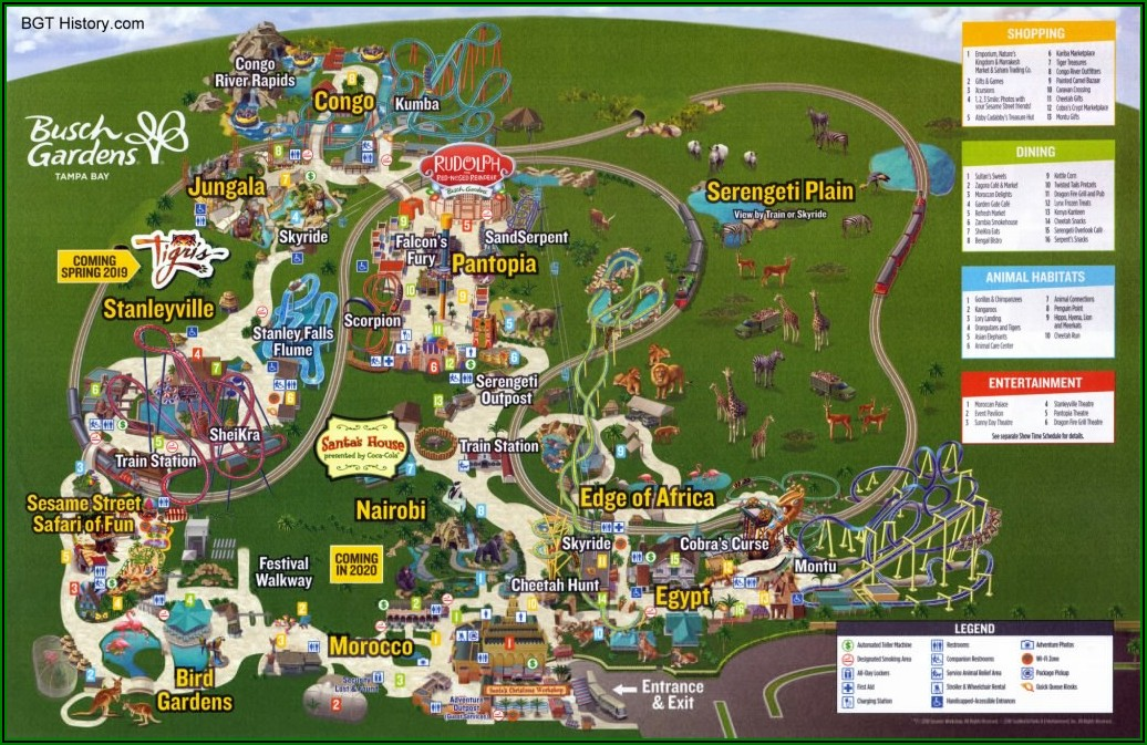 Busch Gardens Tampa Map