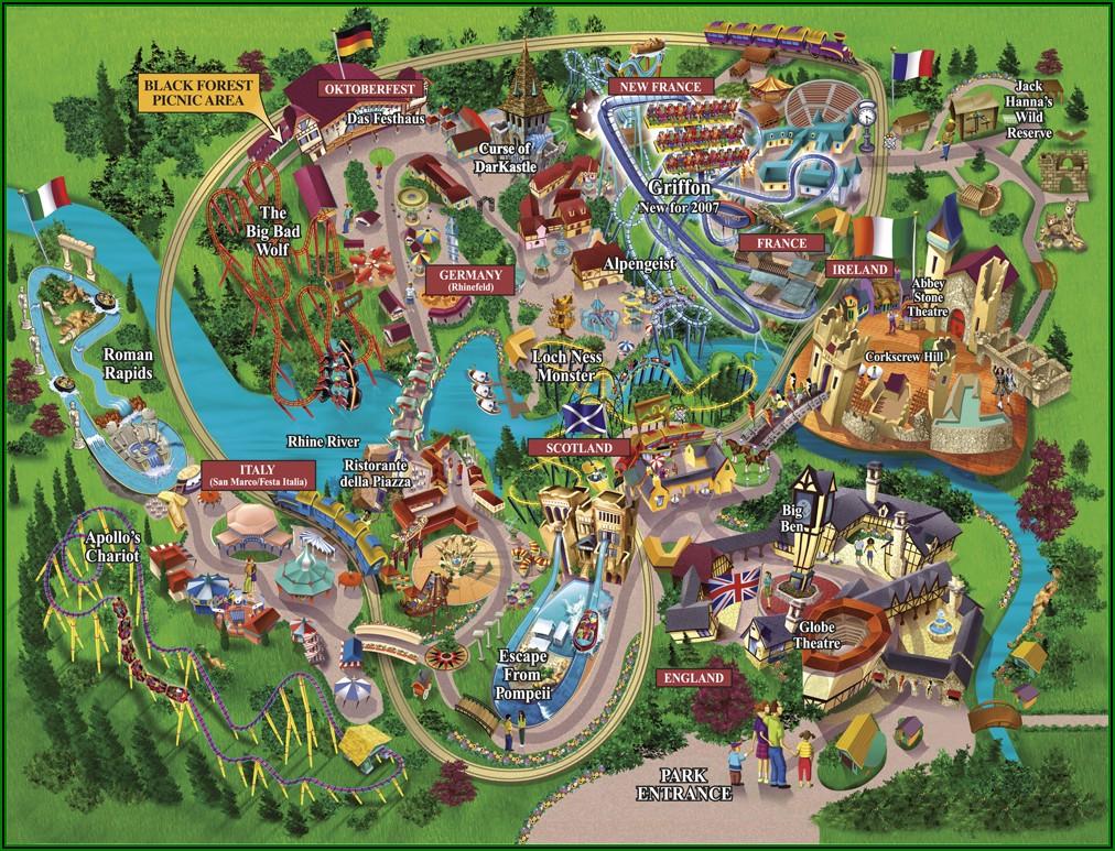 Busch Gardens Williamsburg Map 2019 Pdf