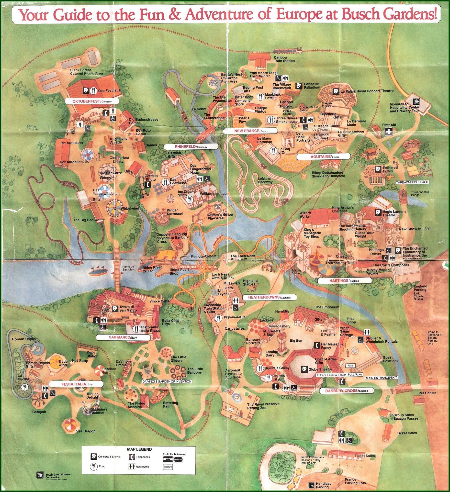 Busch Gardens Williamsburg Map 2019