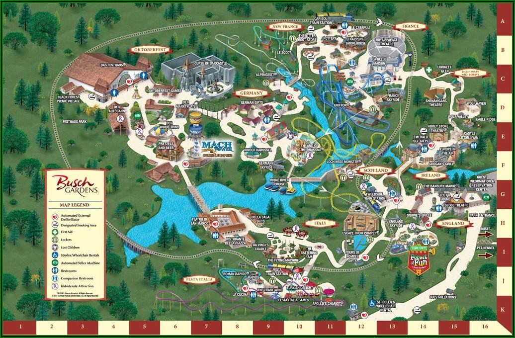 Busch Gardens Williamsburg Old Maps