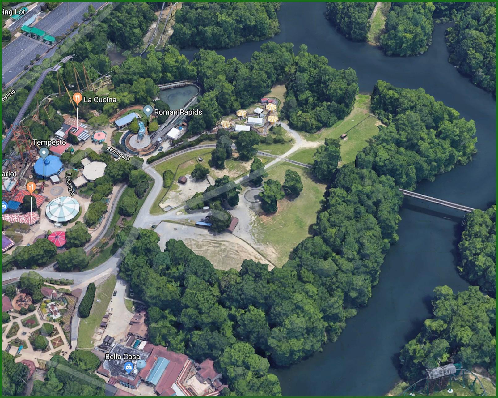 Busch Gardens Williamsburg Parking Lot Map