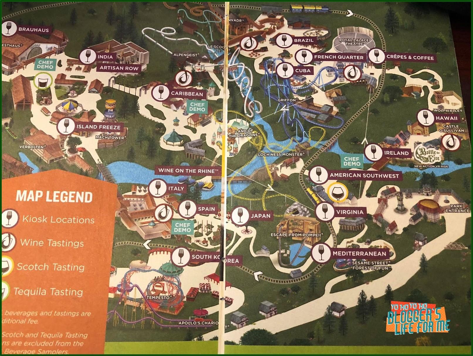 Busch Gardens Williamsburg Va Map