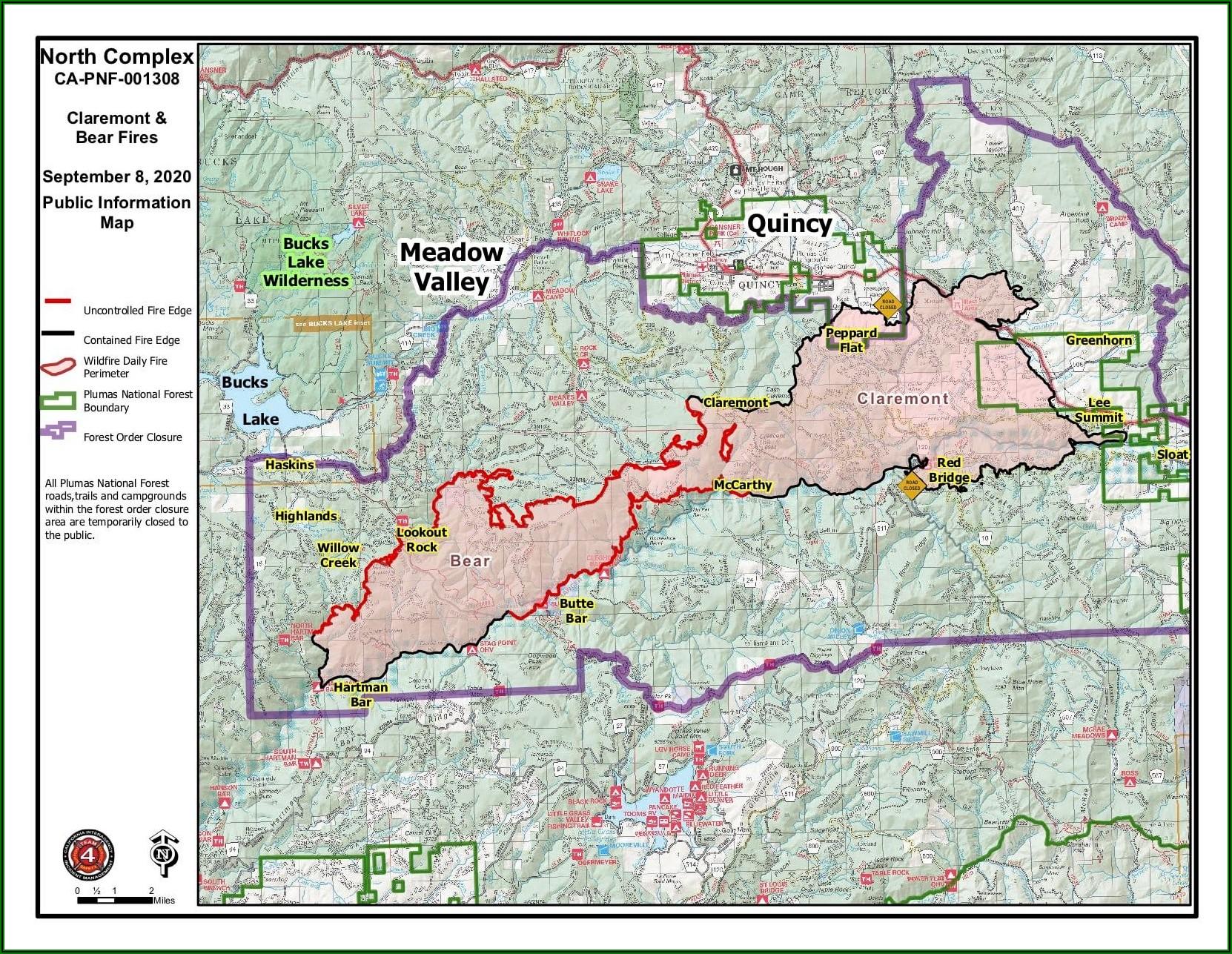 Butte County Bear Fire Map