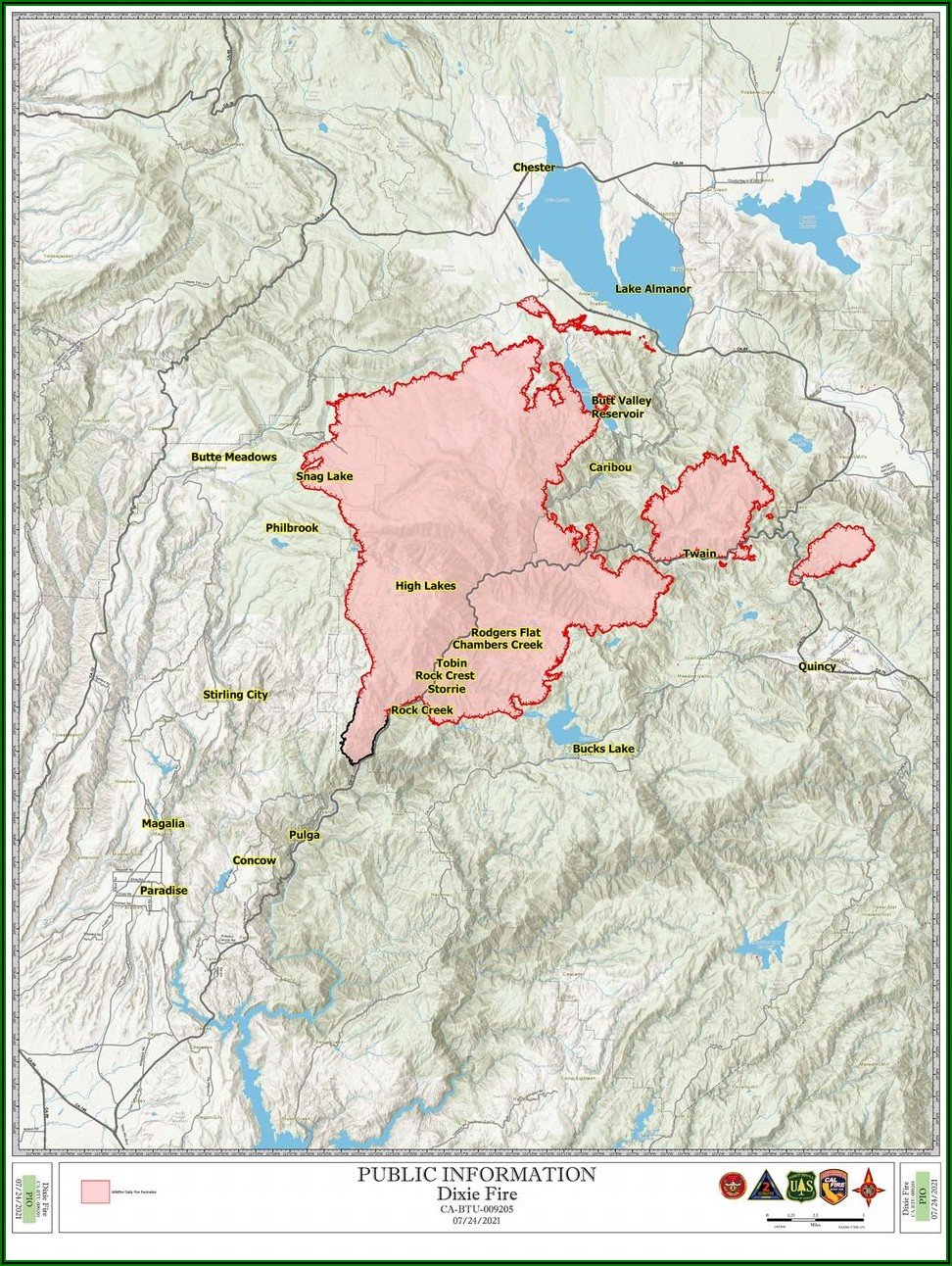 Butte County Fire Evacuation Map 2020