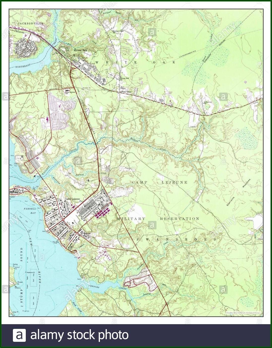 Camp Lejeune Base Hunting Map