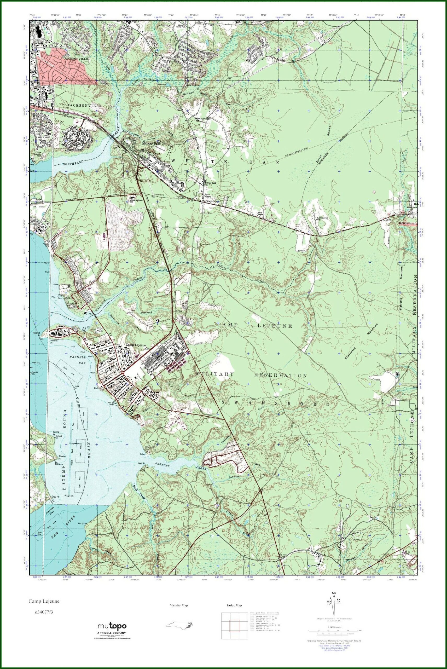 Camp Lejeune Base Map Pdf
