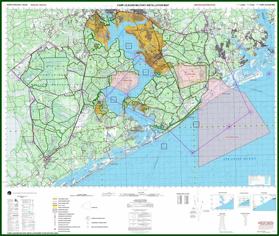 Camp Lejeune Range Control Map