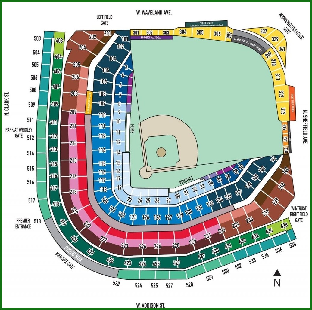 Chicago Cubs Wrigley Field Seating Chart