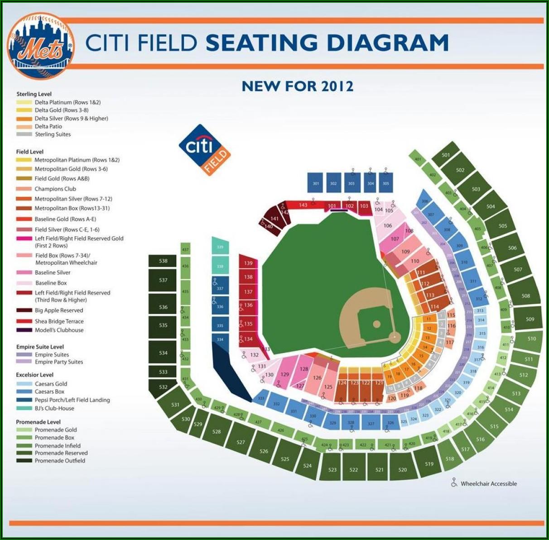 Citi Field Stadium Map