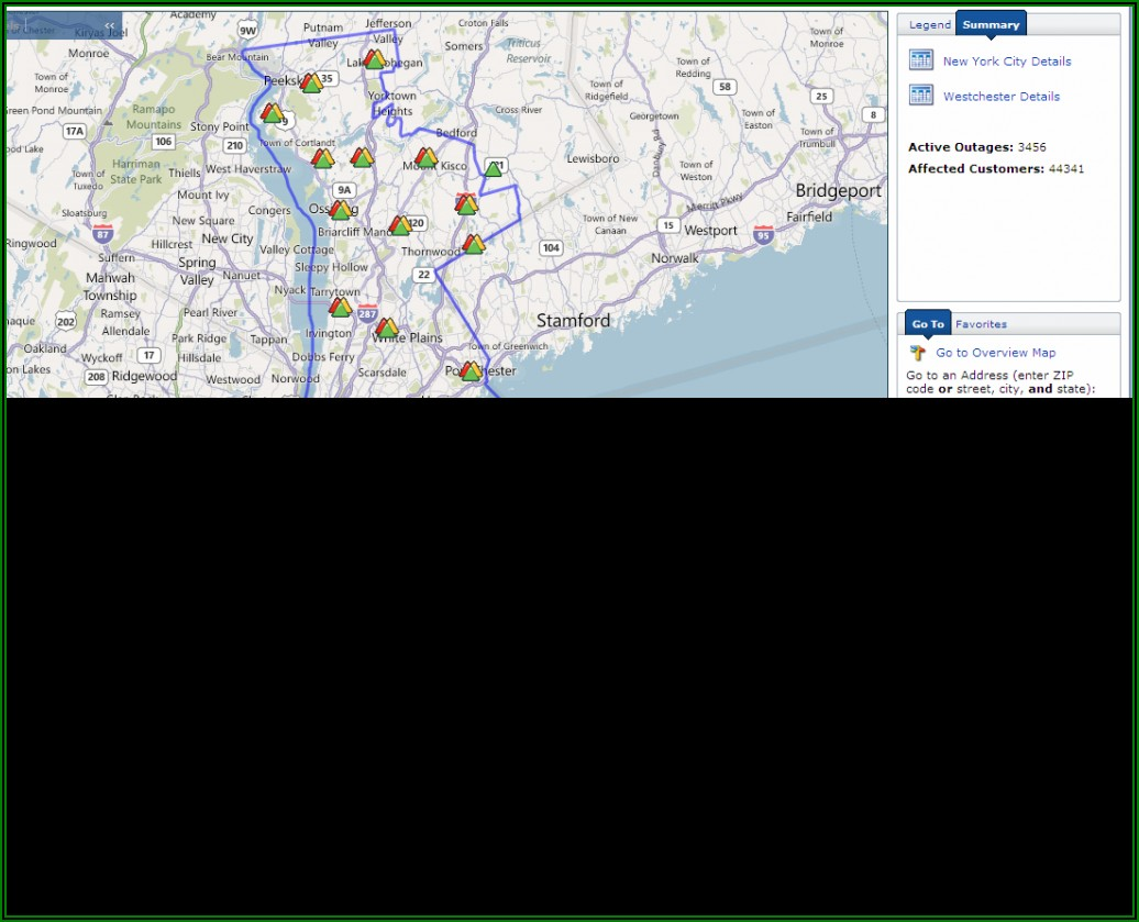 Coned Power Outage Map Ny