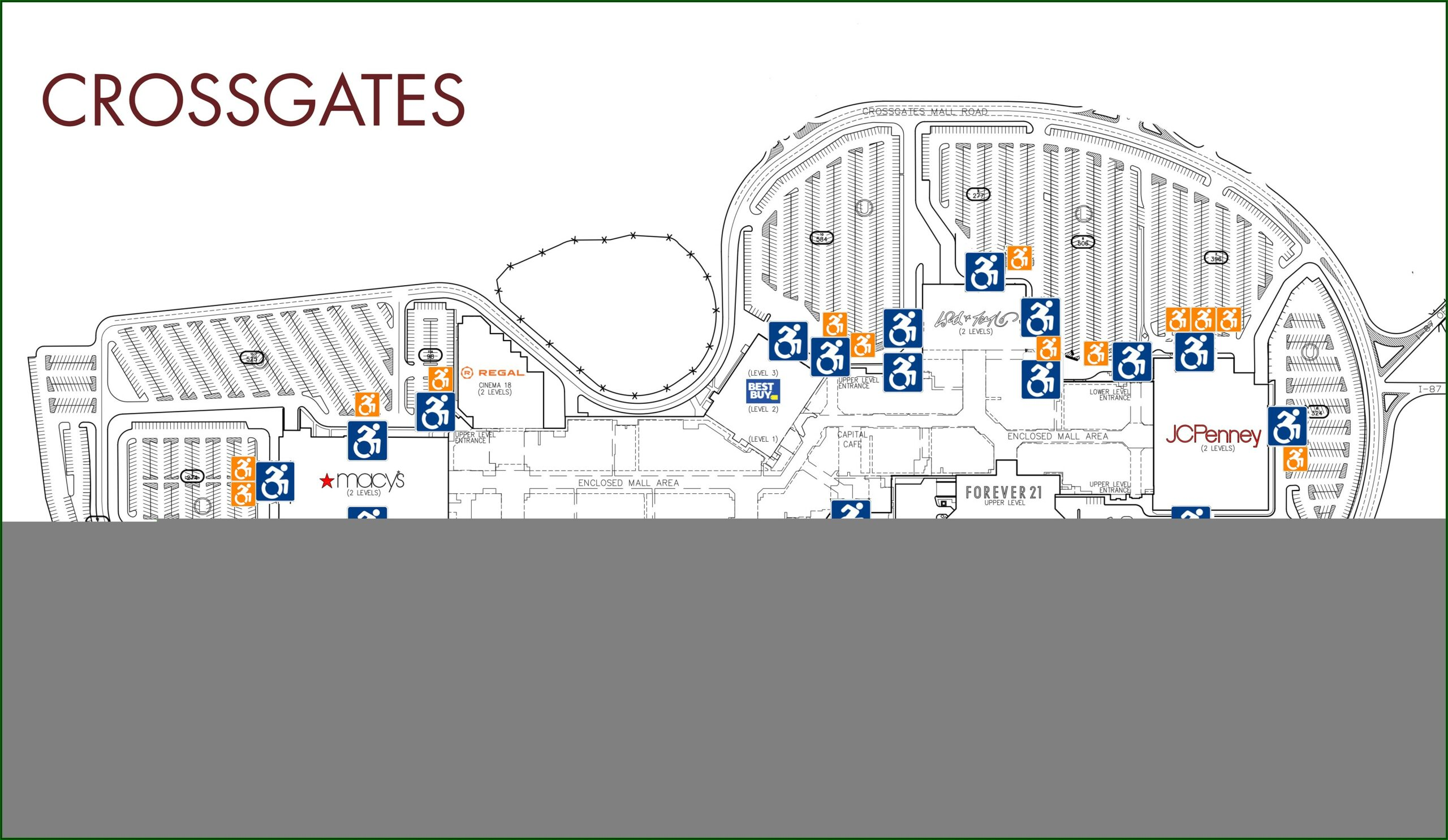 Crossgates Mall Map 2019