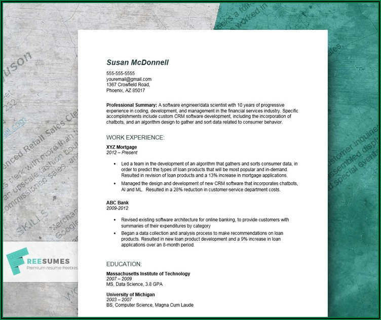 Example Of Professional Summary For Resume