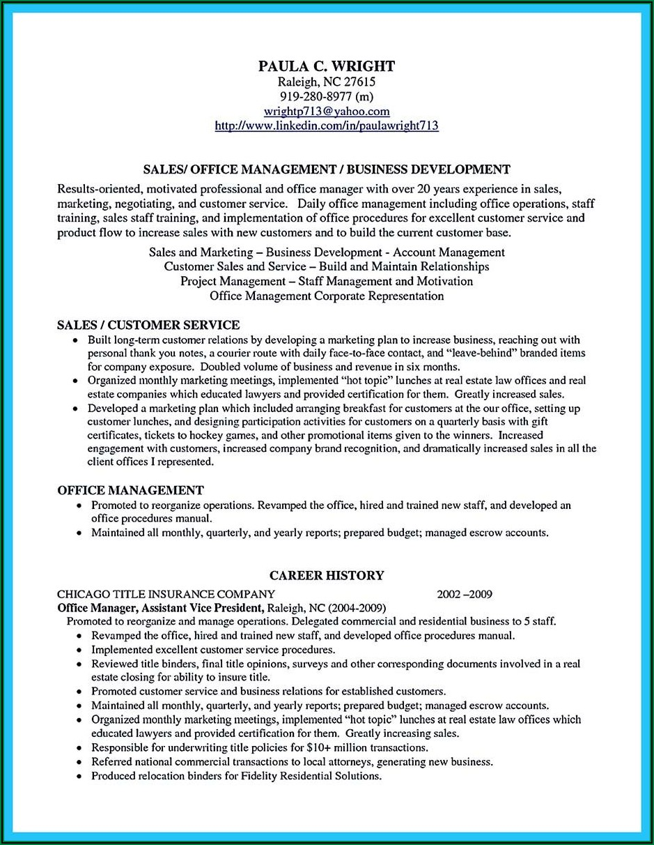 Examples Of Professional Profiles For Resume