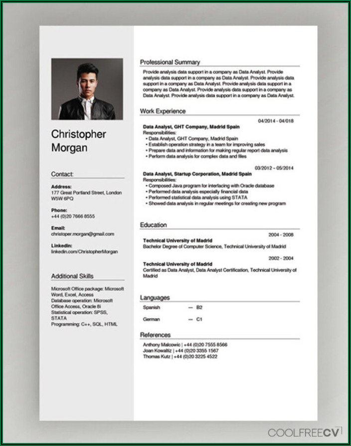 Free Open Source Resume Templates