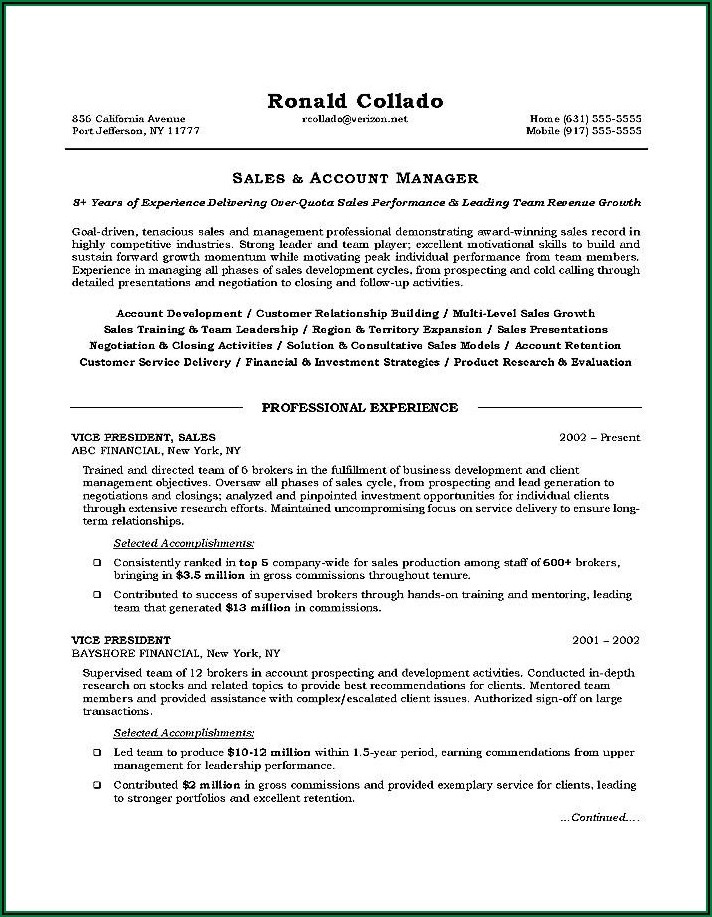 Free Resume Templates For Customer Service