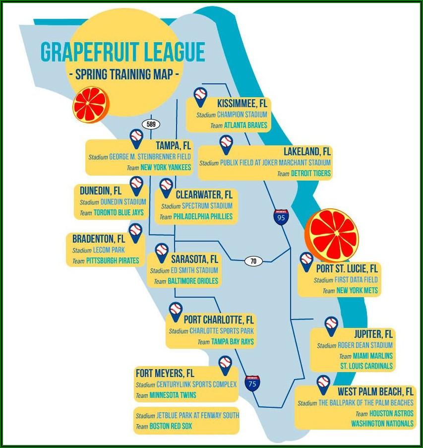 Grapefruit League Map 2020