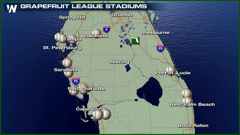 Grapefruit League Team Map 2020