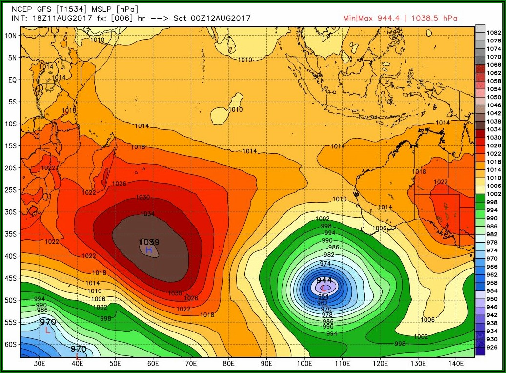 Indian Ocean Weather Forecast Map