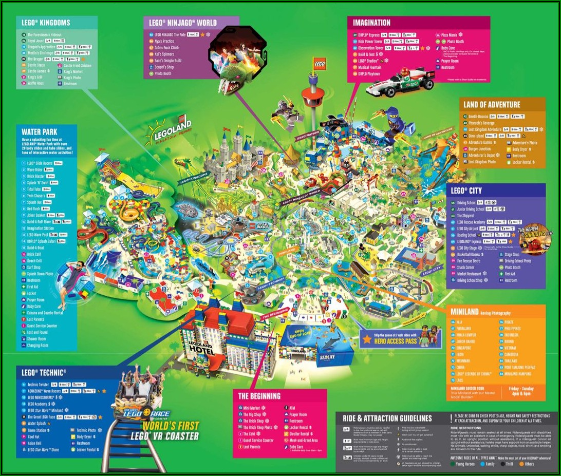 Legoland Florida Map 2019 Pdf