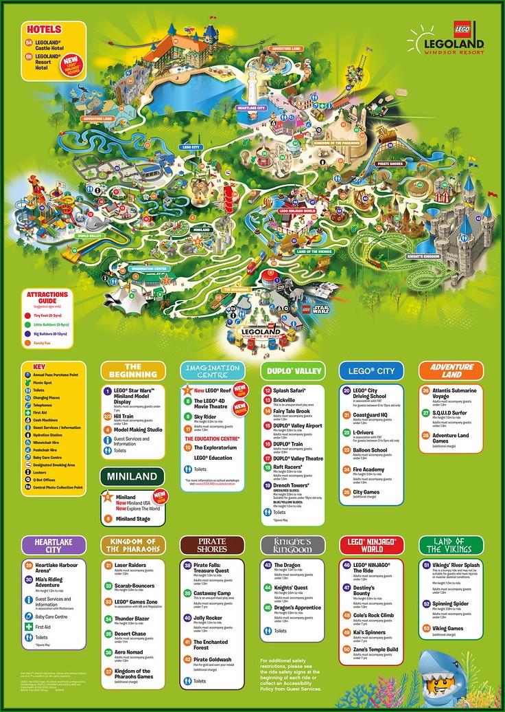 Legoland Florida Park Map Pdf