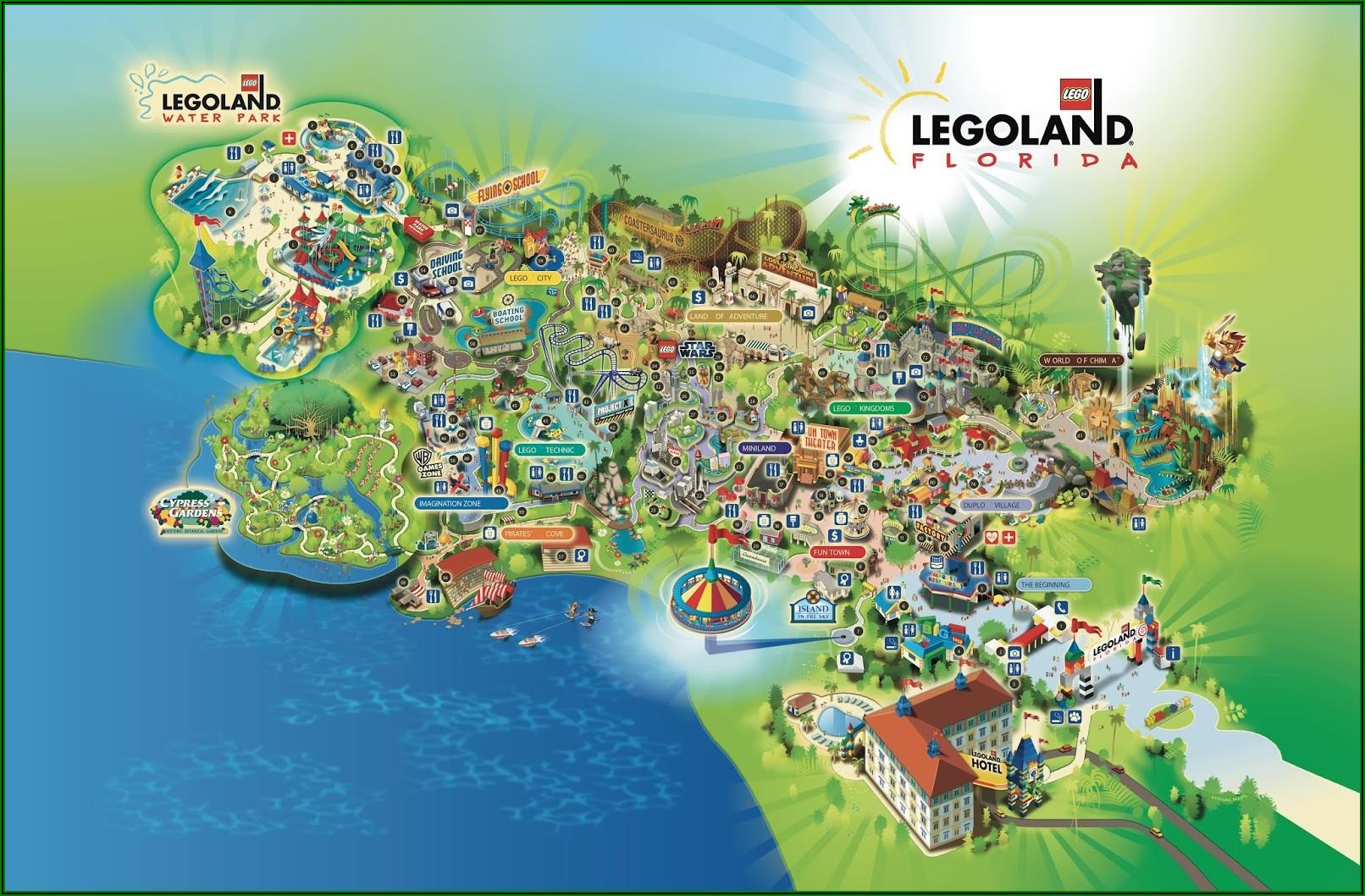 Legoland Florida Resort Map