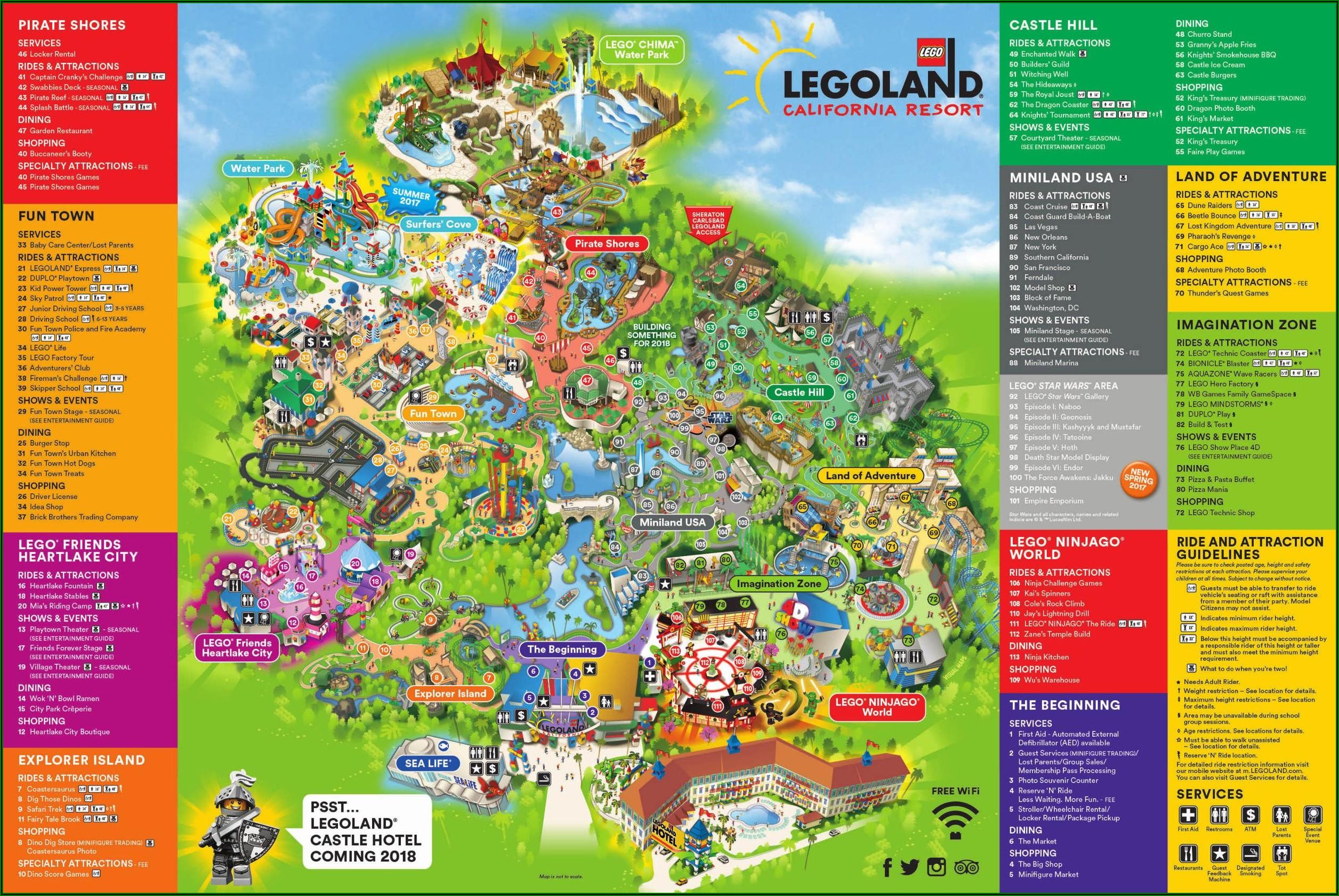 Legoland Florida Resort Park Map