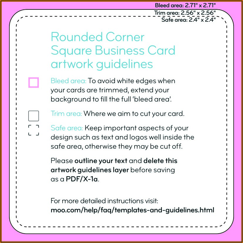 Moo Square Business Card Template