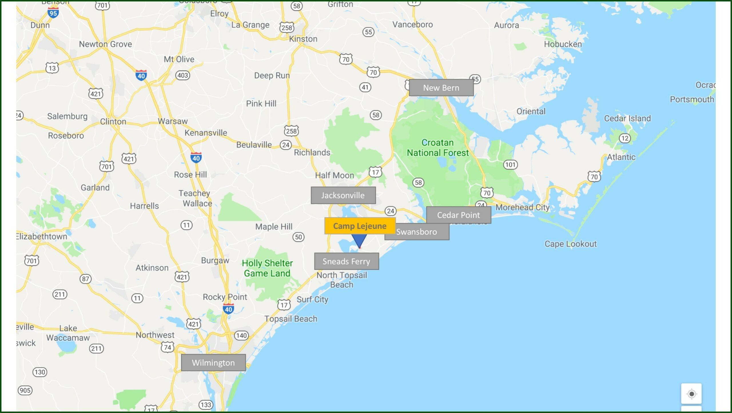 Naval Medical Center Camp Lejeune Map