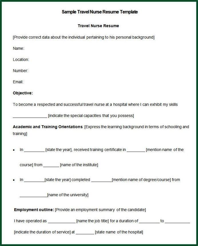 Nurse Resume Format Free Download