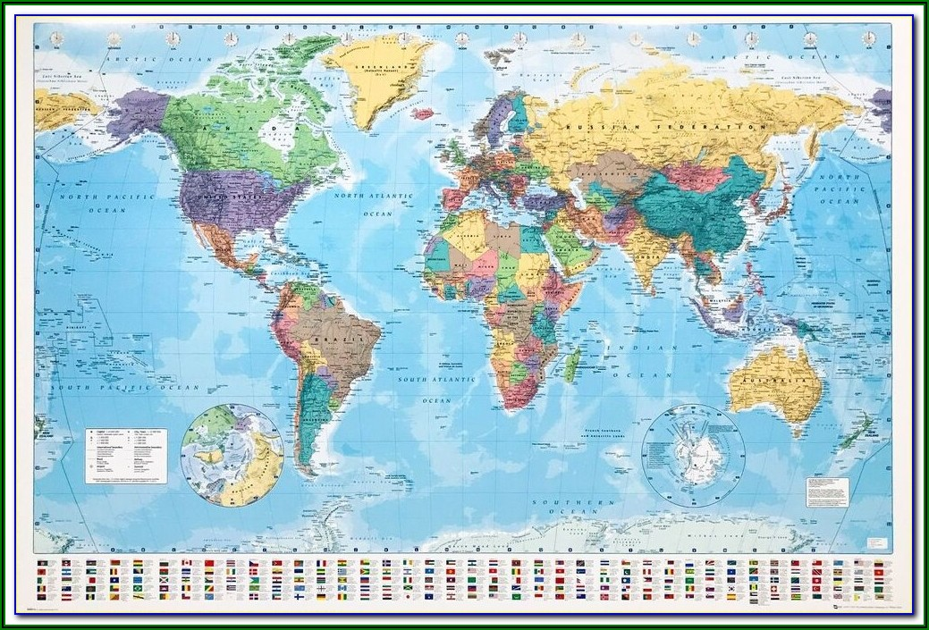 Omy World Map Coloring Poster