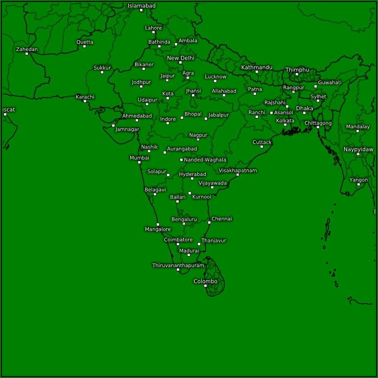 Precipitation 3h Weather Map Forecast India