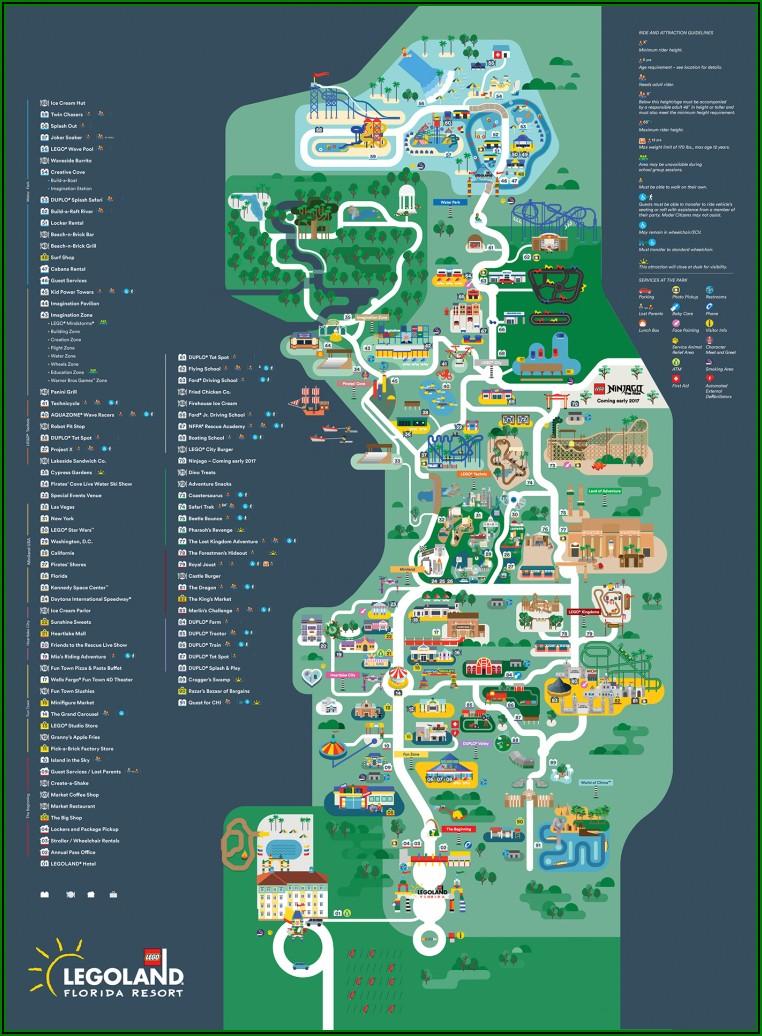 Printable Legoland Florida Map