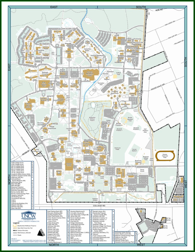 Printable Uncw Campus Map