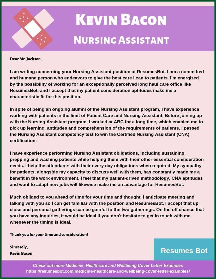 Sample Resume For Applying Nursing Assistant
