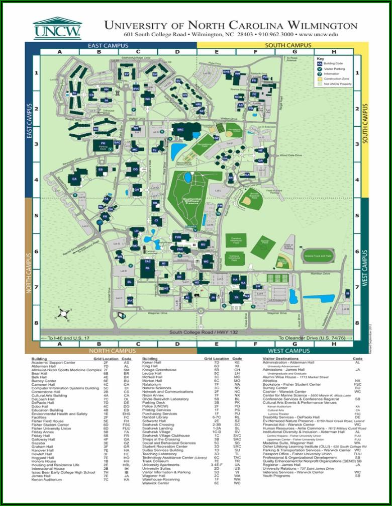 Uncw Campus Map Parking