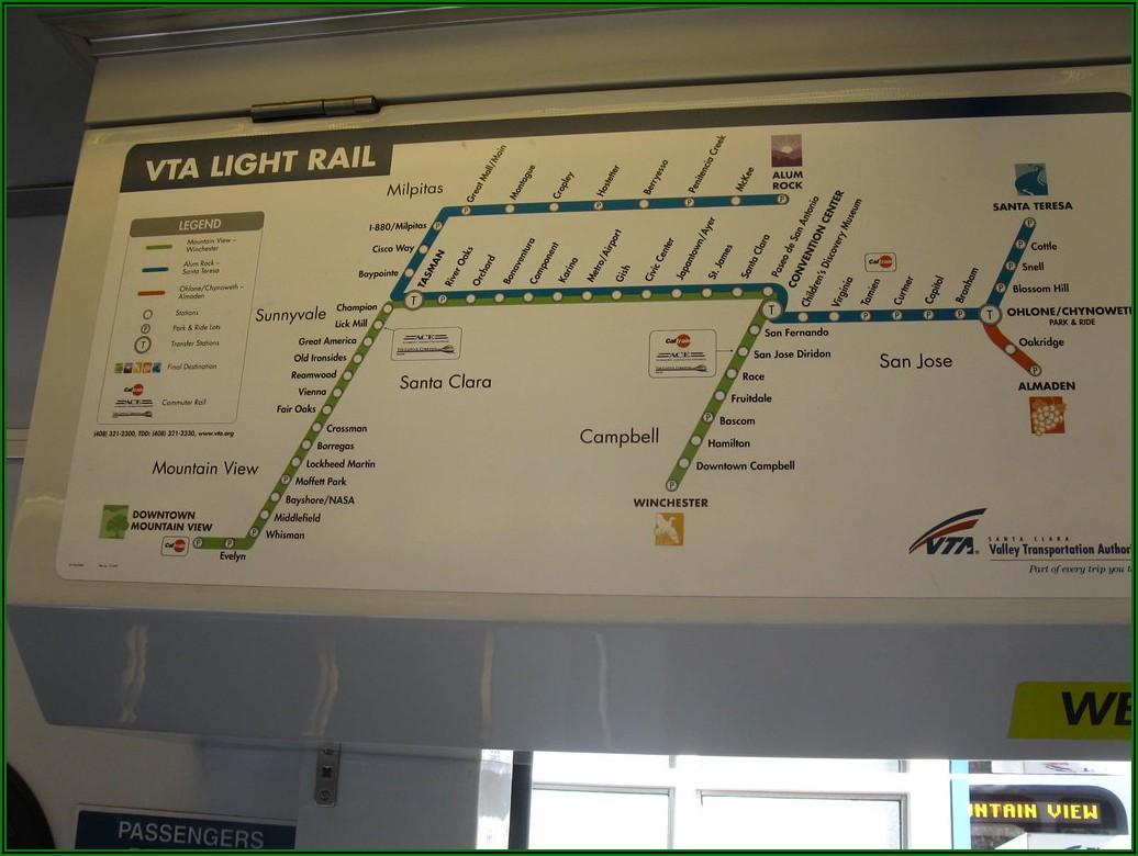 Vta Light Rail Map San Jose