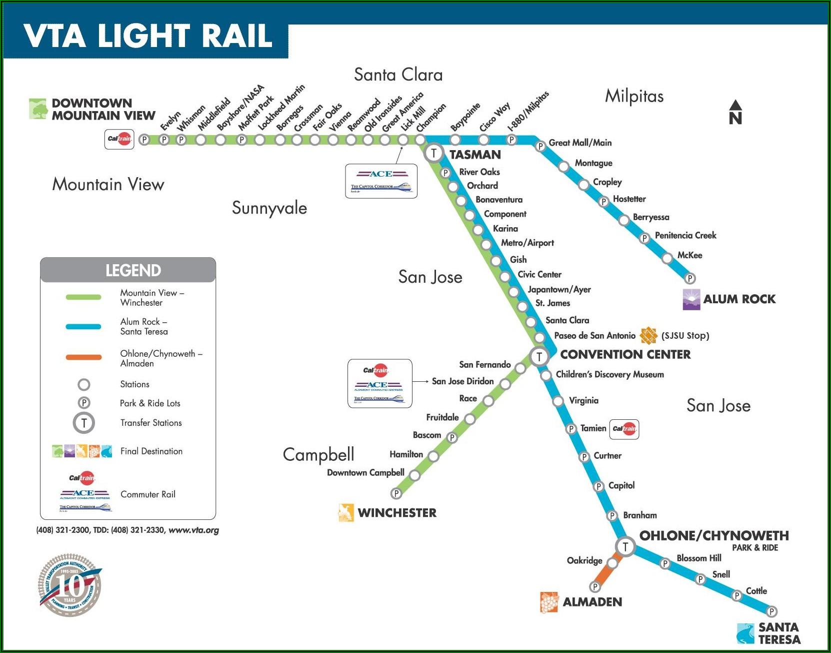 Vta Light Rail Map