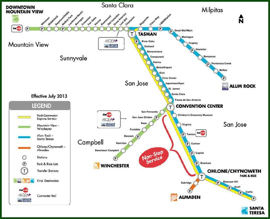 Vta Light Rail Schedule Santa Teresa
