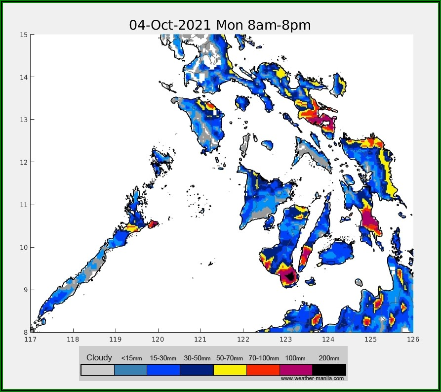 Weather Forecast Map Philippines Today
