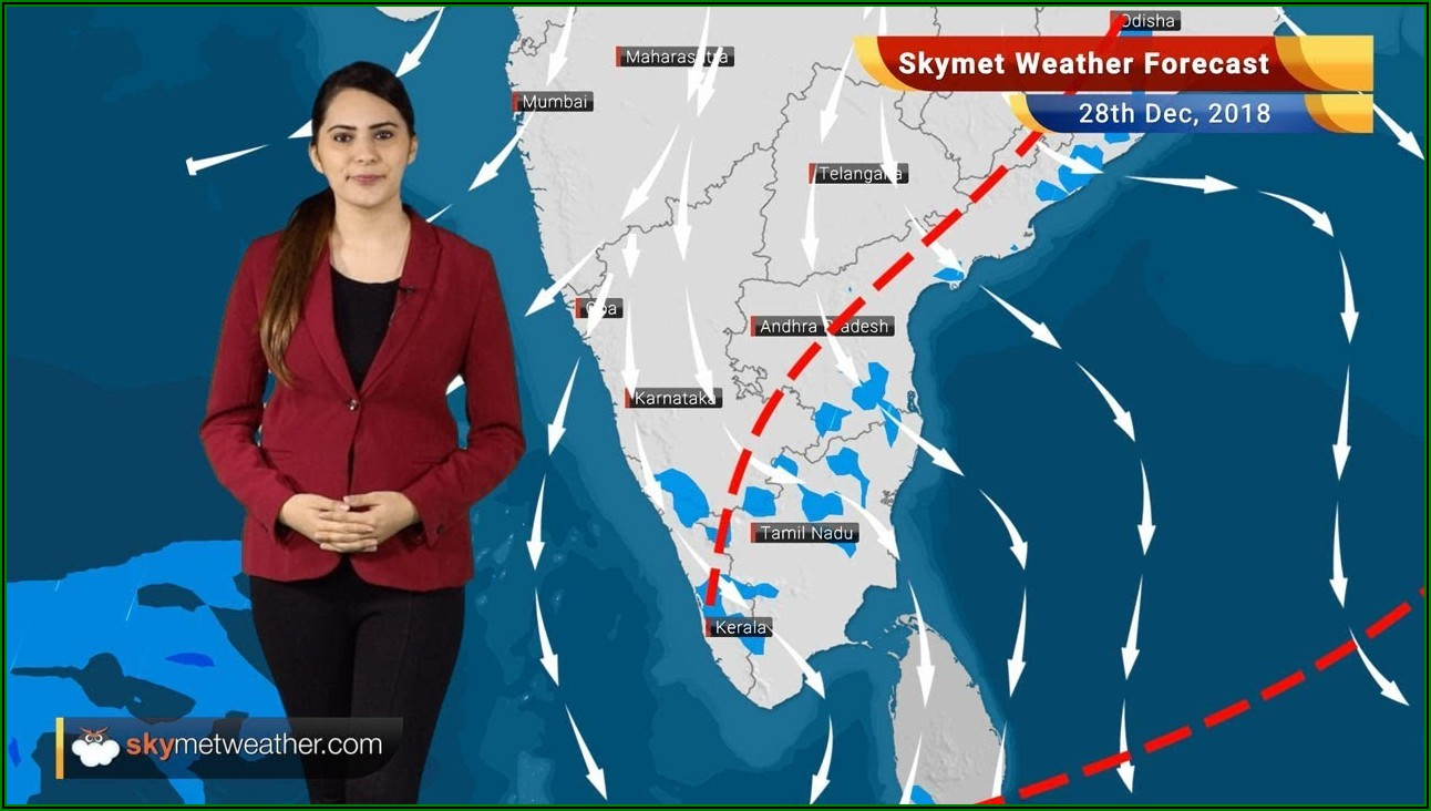 Weather Forecast Map South India