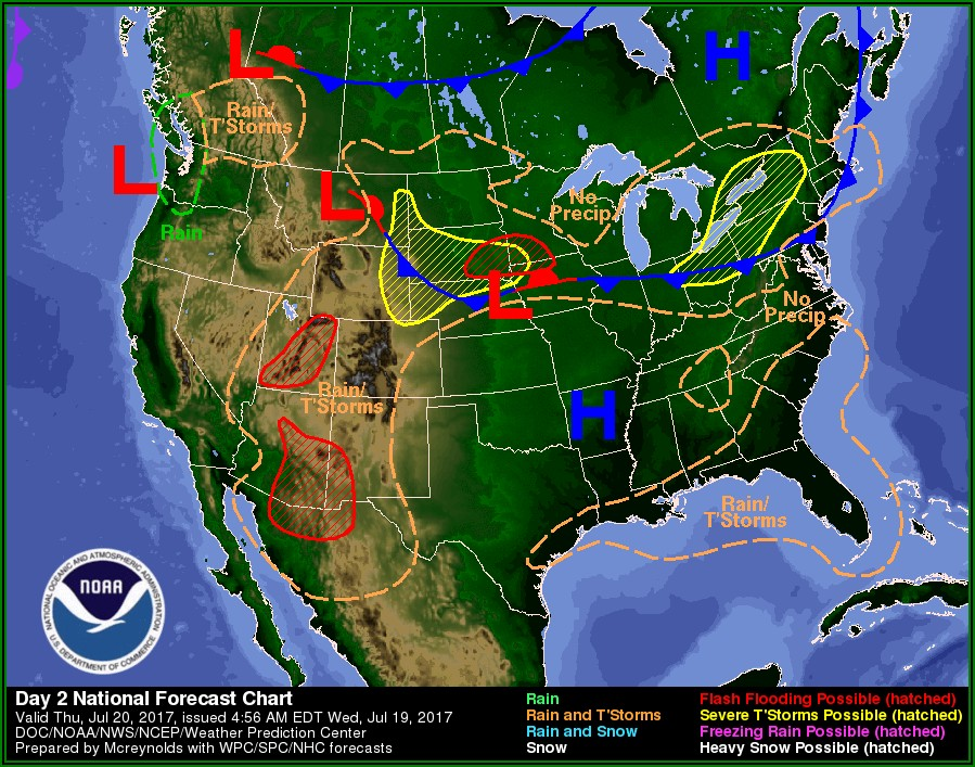Weather Forecast Map Today