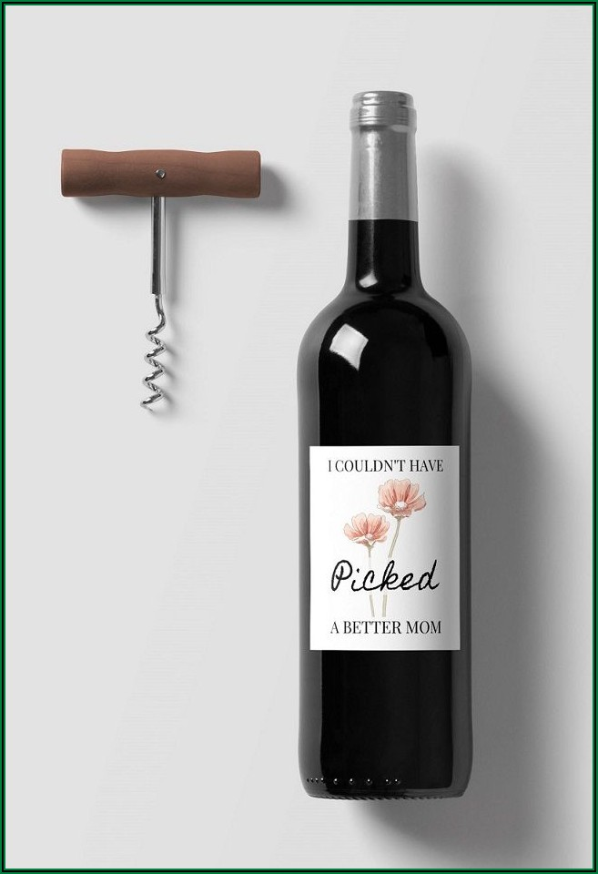 Wine Bottle Labels Template Free