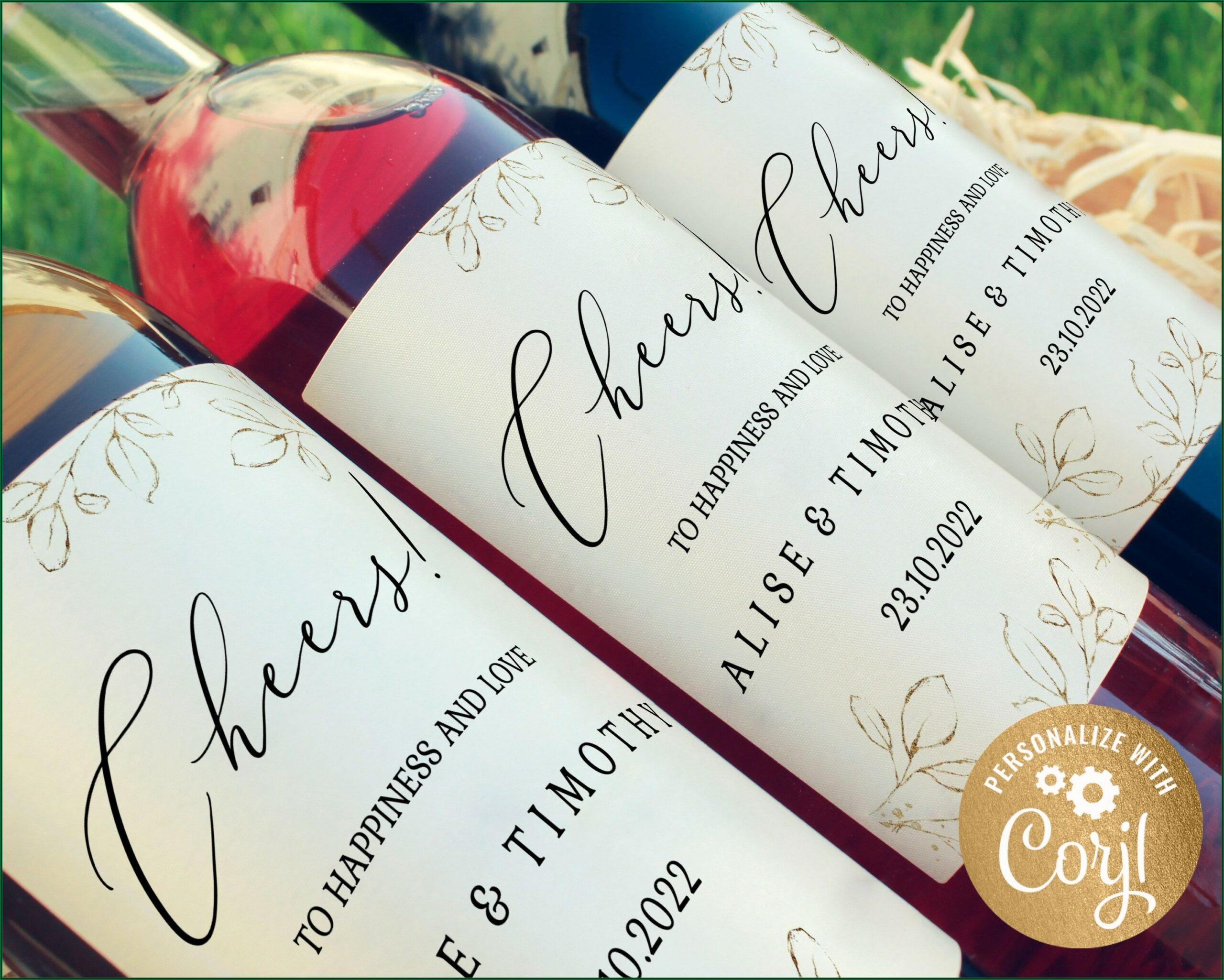Wine Bottle Labels Template
