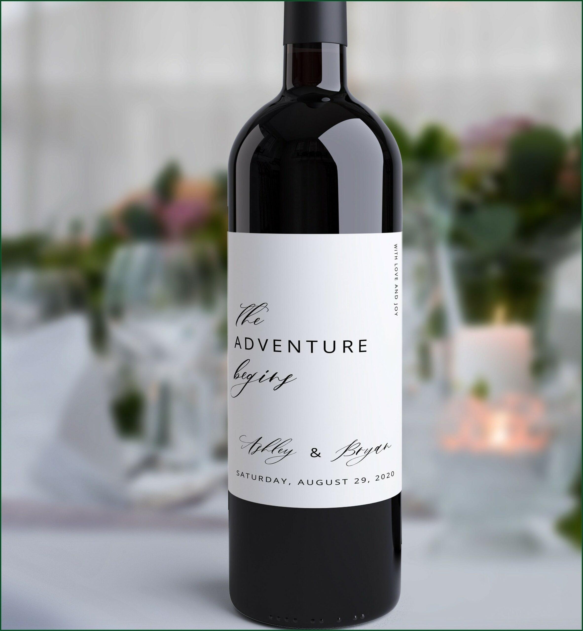 Wine Bottle Stickers Template