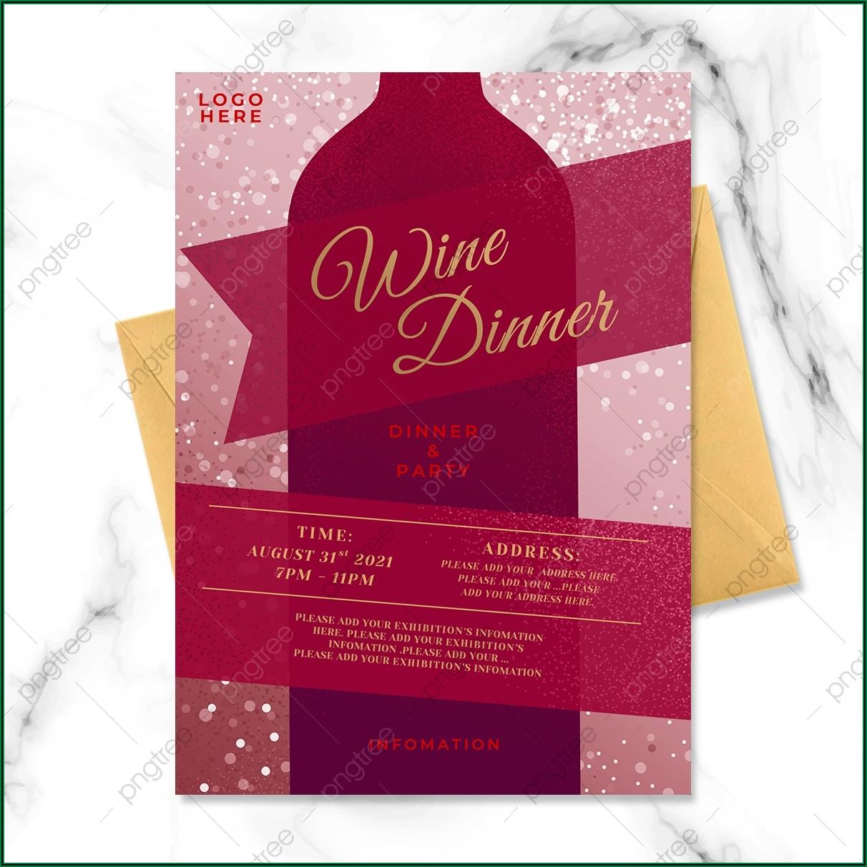 Wine Dinner Invitation Template