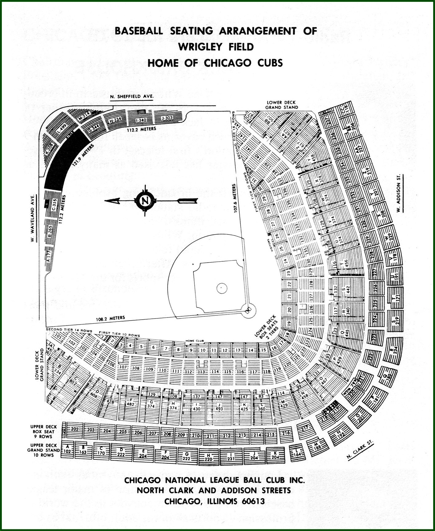 Wrigley Field Seating Chart With Seat Numbers 2019