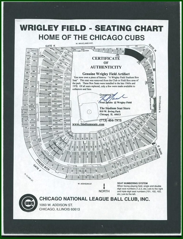 Wrigley Field Seating Map Concert