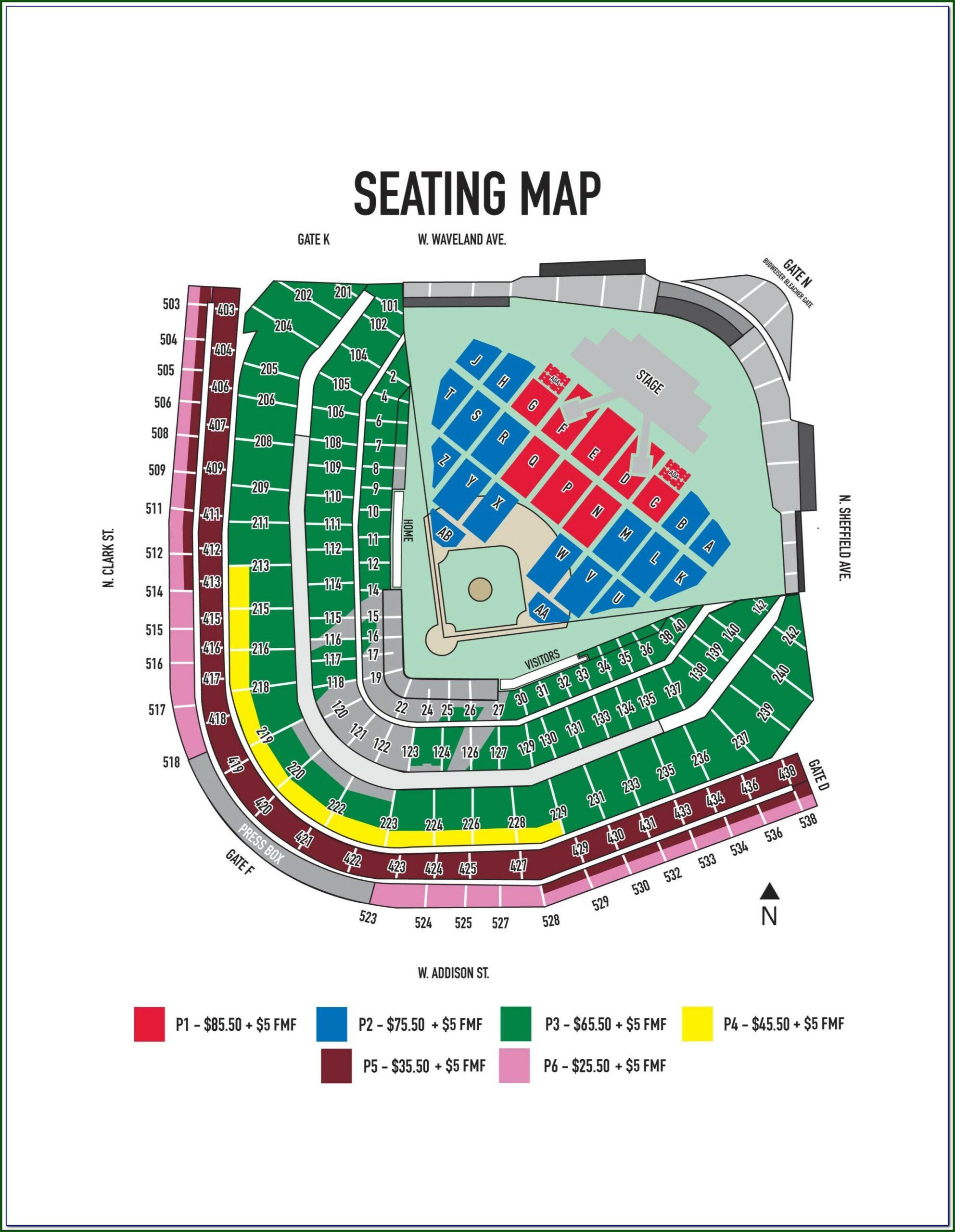 Wrigley Field Ticket Map