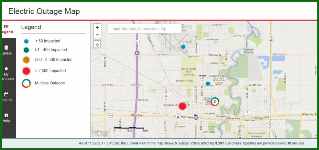 Xcel Power Outage Map